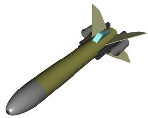 RockSim 3D rendering of Megga Dogfighter