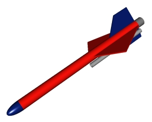 RockSim 3D rendering of Mini-Jet #2