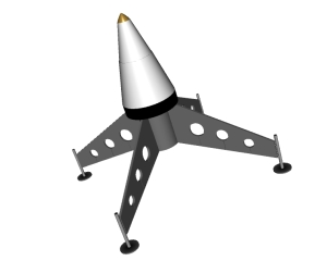 RockSim 3D rendering of Sky Champ Lander
